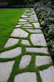 alternatives to lawn, patio or decking...nice transition
