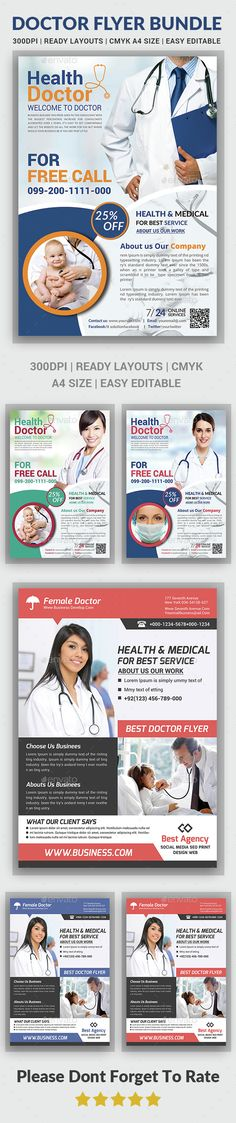 Health & Medical Doctors Flyer Bundle