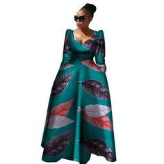 Women African Clothing Bazin Riche Robe Africaine African Dress New Arrival 2018 Women Plus Size Pure Cotton Long Dress African Dresses Plus Size, Plus Size Long Dresses, Latest African Fashion Dresses, African Dresses For Women, African Print Fashion, African Prints, African Wear, South African Traditional Dresses, Traditional Outfits