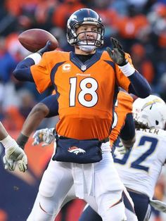 Broncos QB Peyton Manning is one win from reaching his third Super Bowl.