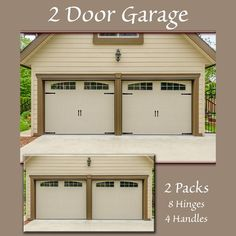 The Household Essentials Hinge-It Decorative Magnetic Garage Door Hinges and Handles are decorative accents that turn steel garage doors into classic carriage doors instantly without damaging the door. Accents use strong magnets to anchor to the door. Unique Garage Doors, Faux Wood Garage Door, Garage Door Hinges, Garage Door Decor, Garage Door Styles, Garage Door Makeover, Garage Door Design, Garage Door Opener, Garage Exterior