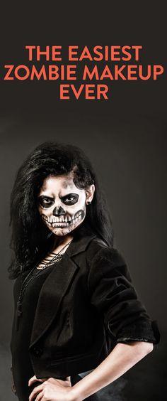How to get easy Zombie makeup -Halloween