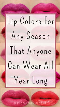 How to choose the perfect lip color every time for every season can be tricky. Here is an informative guide on finding those perfect lip shades that best suit your skins tones, textures, and your personal style. #lipsticks #lipstickguide #lips #lipcolors