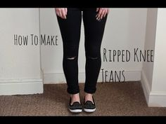 ▶ How to Make Ripped Knee Jeans (DIY) | Robyn Mayday - YouTube