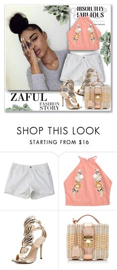 """Zaful Fashion"" by sneky ❤ liked on Polyvore featuring Mark Cross, polyvoreeditorial and zaful"
