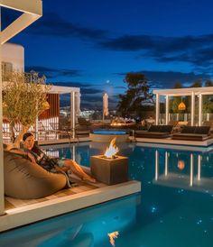 Great hospitality in Mykonos Mykonos Hotels, Mykonos Town, Luxury Accommodation, Best Hotels, Hospitality, Spa, Mansions, House Styles, Outdoor Decor