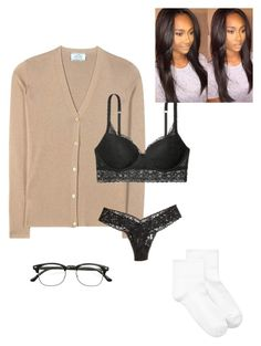 """""""Untitled #105"""" by yasminabuwi on Polyvore featuring Prada, Victoria's Secret, Hanky Panky, Hue and ZeroUV"""