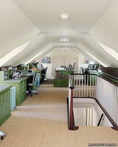 Attic office/craft space
