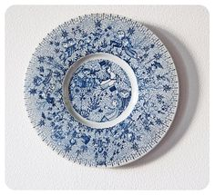 Large Bjorn Wiinblad decorative plate - collectors item.