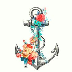 """Want this anchor with the words """"sink or swim"""" somewhere by it on my foot"""
