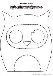 Owl Cushion Pattern