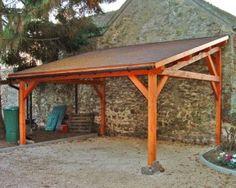 Abris en bois pour voiture et carports - Cerisier