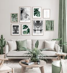 Gallery Wall Inspiration - Shop your Gallery Wall Living Room Green, Boho Living Room, Living Room Decor, Room Interior, Interior Design Living Room, Living Room Designs, Interior Ideas, Living Room Inspiration, Inspiration Wall
