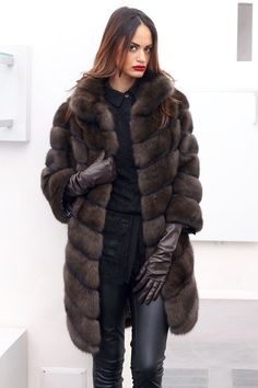 Russian Barguzin Sable Fur Coat