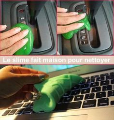 Make homemade cleaning slime to remove debris from all those nooks and crannies. Just press the slime into dirty areas and pull away to remove the grime. (Diy Slime With Sta Flo)