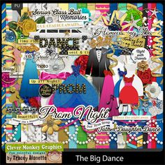 The Big Dance by Clever Monkey Graphics - Digital scrapbooking kits available through Oscraps, GingerScraps, or MyMemories