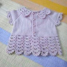 295 Likes, 3 Comments - çilek Diy Crafts Dress, Diy Crafts Crochet, Diy Dress, Sweater Knitting Patterns, Baby Knitting, Crochet Patterns, Hand Crochet, Crochet Lace, Free Crochet