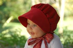 Rose Corduroy Bonnet