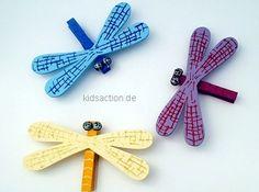 dragonflies made with pegs