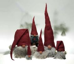 Traditionally tomte are from Scandinavian folklore and thought of as little folk that help with the housework and farm chores. They were protective and caring but temperamental. In more modern times they became associated with Christmas and, with their customary white beard and red cap, the connection has lasted. These little elves bring a touch of the Christmas spirit wherever you choose to hide them.