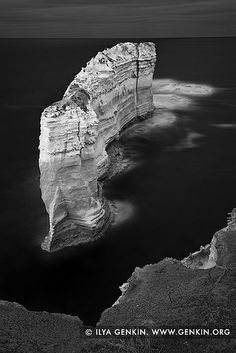 The Razorback in Black and White, The Twelve Apostles, Great Ocean Road, Port Campbell National Park, Victoria, Australia