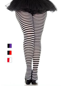 Plus Size Striped Tights - More Colors - Candy Apple Costumes - Circus Ring Master Costumes Black Neon, Black And White, Alice In Wonderland Series, Apple Costume, Ring Master, Striped Tights, Fashion Tights, Colorful Candy, Wolford