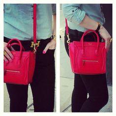 ~The Fashion Minx~  Pop of red- Celine nano