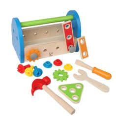 With this neatly packed Fix It Wooden Tool Box 14 pc Play Set from Educational Toys Planet your young builder is ready for action! Manufactured by Hape. Toddler Fun, Toddler Activities, Bebe Love, 2nd Birthday Gifts, Hape Toys, Wooden Tool Boxes, Green Toys, Thing 1, Creative Play