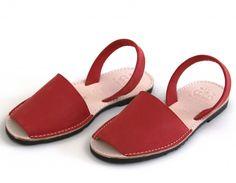 ROJO ABARCAS MENORQUINAS « Verano Shoes - Sandals