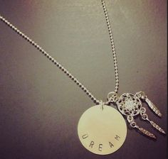 Dream Stamped Necklace Dreamcatcher by AllSouthernCharm