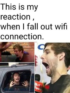 My wifi was off last weekend... I had to communicate with my family<<I lose wifi like every 20 minutes for like 10 minutes