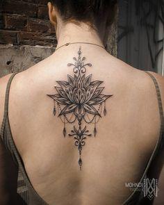 Tattoo by MO sur Instagram : Jewel Lotusdala // thanks Jenni ! . #mohndi #mohnditattoo #tattoobymo #lotusdala #lotus #lotustattoo #ornamentaltattoo #ornementaltattoo…
