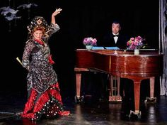 Ellen Brooks as Florence Foster Jenkins and Daniel Morgan as Cosme McMoon in…