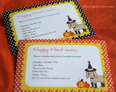 #Halloween Free Party Printable Invitations by Amy Locurto at @Amy Locurto {LivingLocurto.com}.