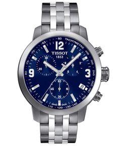 Tissot Men's Swiss Chronograph PRC200 Stainless Steel Bracelet Watch 41mm T0554171104700