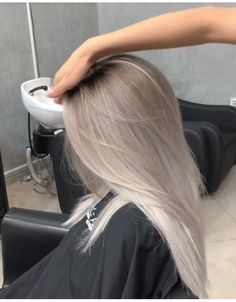 Silver Platinum Blonde Hair - Irina - # Check more at . - Silver Platinum Blonde Hair – Irina – # Check more at … - Platinum Blonde Balayage, Silver Blonde Hair, Blonde Hair Looks, Pearl Blonde, Silver Platinum Hair, Brown Hair, Grey Blonde Hair, Blonde Color, Platinum Blonde Hairstyles
