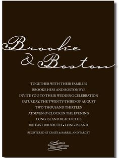 and Elegant Affordable Wedding Invitations, Beautiful Wedding Invitations, Elegant Invitations, T Twenty, Wedding Announcements, Beach Club, Celebrity Weddings, Future, Simple