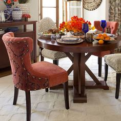 Hourglass Dining Chair - Royal Sunset