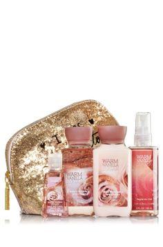 Love the cosmetuc bag!!  I was born to sparkle  Warm Vanilla Sugar Glitz & Glamour Gift Set - Signature Collection - Bath & Body Works
