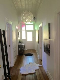 """Check out #IDIstudent Jennifer Domett's recent renovation. We think she has done a fantastic job and we love the touches of Art Deco! """"The carpet was replaced with traditional wooden floors. The dining space has a new footprint to the house..."""