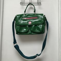 Teen vogue purse Green patent leather handbag by teen vogue. Gently used. No flaws. Please make an offer no reasonable offer will be refused. Thanks Teen Vogue Bags Shoulder Bags