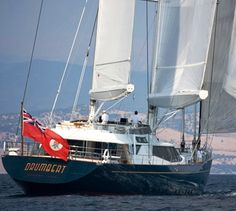 Luxury sailing yacht DRUMBEAT (ex Salperton) was designed by the renowned Dubois Naval Architects and built by Alloy Yachts. At 174' 'Drumbeat' is one of the largest pleasure craft ever built in New Zealand