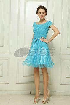 The chiffon skirt pendulum Diamond wrinkled pollen blue cocktail dress Girls Party Dress, Girls Dresses, Formal Dresses, Beautiful Party Dresses, Blue Cocktail Dress, En Stock, Chiffon Skirt, Evening Dresses, Slim