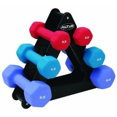 Just in time for New Year's. Work on your strength with the  Altus 32-pound dumbbell set!