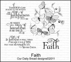 Our Daily Bread Stamp  -  Butterfly Branch stamp Flowers only - no sentiments
