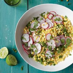 Corn Salad with Radishes, Jalapeño, and Lime