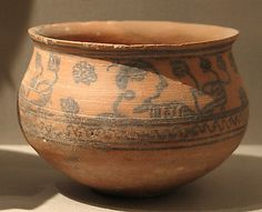 Bowl Decorated with a Procession of Women Date: ca. 5th–6th century Culture: Pakistan (Bajaur Valley) Medium: Terracotta with ink