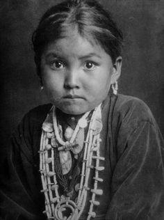 Portrait of a young Navajo princess. Photograph by E.O. Hoppe. USA, 1927.