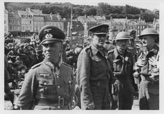 """A rare photo indeed: Major Gen Erwin Rommel (left, later field marshal) is seen with POW British officers at the conclusion of the campaign in France in the port city of Cherbourg, June 1940. Rommel, commanding 7.Panzer Division, was in the spearhead of the """"Blitzkrieg"""" that led to the Anglo-French surrender in a matter of weeks."""