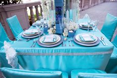 Tabletop inspiration (Marianne Lozano Photography via CeremonyBlog.com at The Ebell of Los Angeles http://www.ceremonyblog.com/2012/05/21/los-angeles-ceremony-magazine-tabletop-inspiration-little-blue-box/comment-page-1/# )